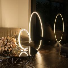 Напольный светодиодный светильник Eurosvet Gap 80415/1 сатин-никель