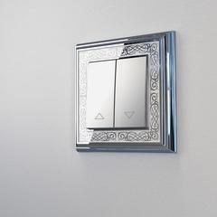 Рамка на 1 пост (хром/белый) WL77-Frame-01 Werkel