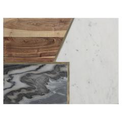 Доска сервировочная Elements из мрамора, камня и акации 40х30 см TYPHOON 1401.047V