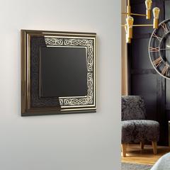 Рамка на 1 пост (золото/черный) WL77-Frame-01 Werkel