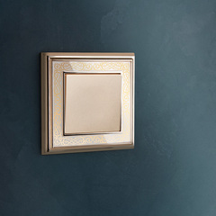 Рамка на 1 пост (золото/белый) WL77-Frame-01 Werkel
