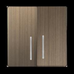 Набор клавиш для выключателя двухклавишного с подсветкой (бронзовый) WL12-SW-2G-LED-CP Werkel