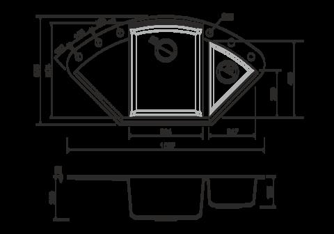 Кухонная мойка из искусственного гранита (Tetogranit) OMOIKIRI Sakaime 105C-DC (4993208)
