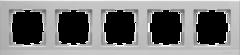 Рамка на 5 постов (серебряный) WL04-Frame-05 Werkel