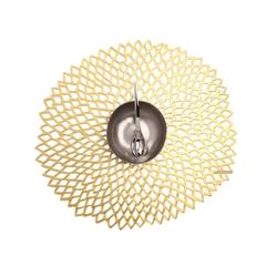 Салфетка подстановочная, винил, (36х39) Gold (100142-003) CHILEWICH Pressed dahlia арт. 0403-DAHL-GOLD