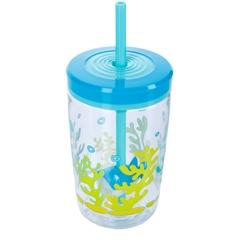 Детский стакан для воды с трубочкой Contigo Floating Straw Tumbler (0.47 литра), голубой contigo0772