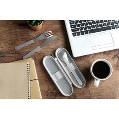 Набор столовых приборов в футляре MB Slim Nest, серый, 3 шт. Monbento 51300030