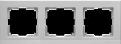Рамка на 3 поста (серебряный) WL04-Frame-03 Werkel