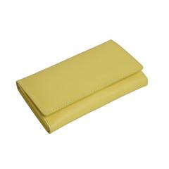 Маникюрный набор Erbe, 7 предметов, кожаный футляр, цвет желтый 9193ER