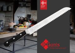 Нож кухонный стальной для хлеба Gottis (арт.183)