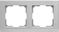Рамка на 2 поста (серебряный) WL04-Frame-02 Werkel