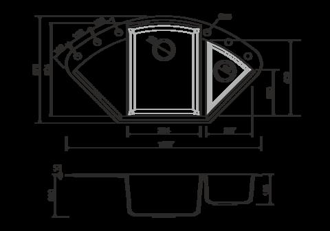 Кухонная мойка из искусственного гранита (Tetogranit) OMOIKIRI Sakaime 105C-EV (4993210)