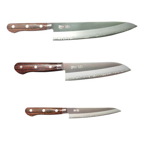 Набор из 3 кухонных ножей Suncraft Senzo Clad