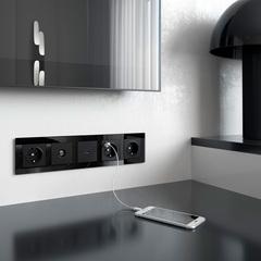 Рамка на 5 постов (черный) WL01-Frame-05 Werkel