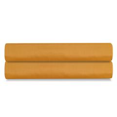 Простыня на резинке из сатина цвета шафрана из коллекции Wild, 160х200х30 см Tkano TK20-FS0009