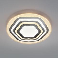 Потолочный светодиодный светильник с пультом управления Eurosvet Siluet 90117/4 хром