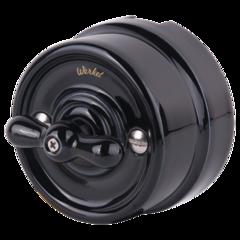Переключатель одноклавишный  (черный) Ретро WL18-01-03 Werkel