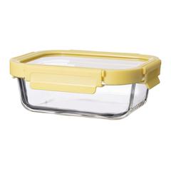 Контейнер для еды Smart Solutions стеклянный 370 мл желтый ID370RC_127C