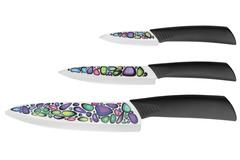 Набор из 3 кухонный керамических ножей Mikadzo Imari (упакованы отдельно)