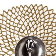 Салфетка подстановочная, винил, (36х39) Brass (100142-006) CHILEWICH Pressed dahlia арт. 0403-DAHL-BRAS