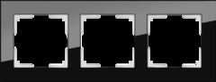 Рамка на 3 поста (черный) WL01-Frame-03 Werkel