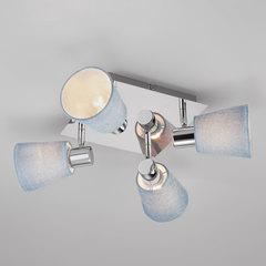 Потолочный светильник с поворотными абажурами Eurosvet Culver 20080/4 хром/голубой