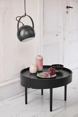 Лампа потолочная Ball с подвесом, ?18 см, черная матовая Frandsen 135465001