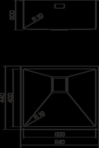 Кухонная мойка из нержавеющей стали OMOIKIRI Taki-54-U (4993046)