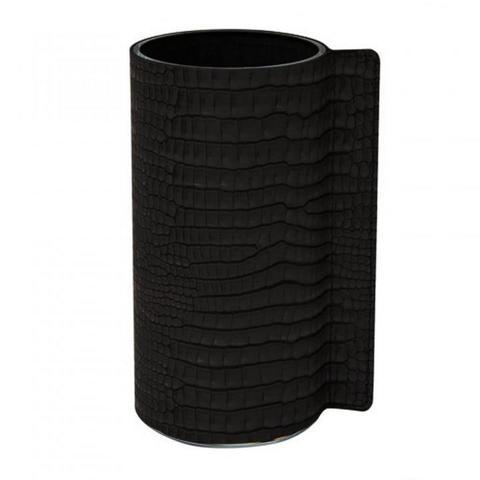 Ваза для цветов 11х20см Croco black LindDNA-98813