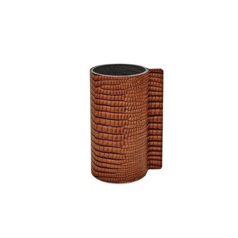 Ваза для цветов 11х20см Croco cognac LindDNA-9814