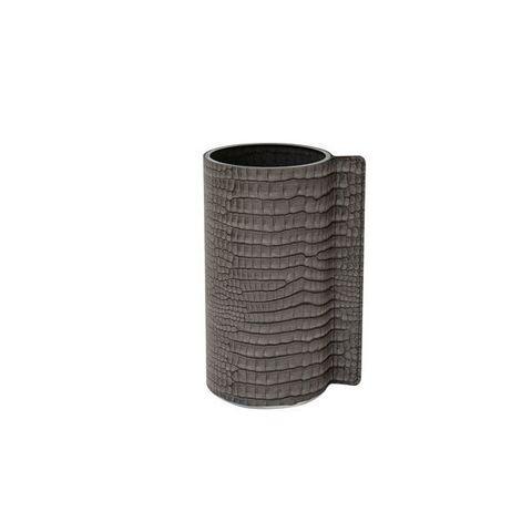 Ваза для цветов 11х20см Croco silver-black LindDNA-9815