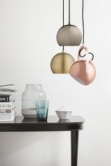 Лампа потолочная Ball с подвесом, бронзовая в глянце Frandsen 13542105001