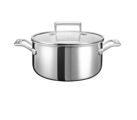Кастрюля низкая 24см (5,7л) KitchenAid KC2T60LCST