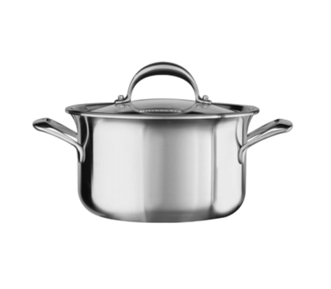 Кастрюля низкая 24см (5,7л) KitchenAid KC2C60LCST
