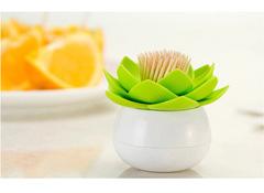 Держатель для зубочисток lotus белый/зеленый QL10156-WH-GN