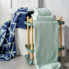 Полотенце для лица мятного цвета из коллекции Essential, 30х30 см Tkano TK19-FT0004