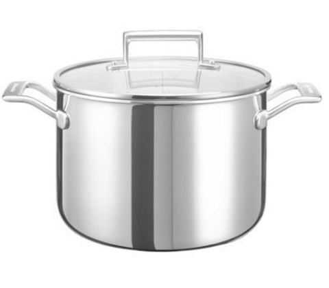 Кастрюля 24см (7,5л) KitchenAid KC2T80SCST