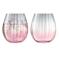 Набор из 2 тумблеров Dusk 425 мл розовый-серый LSA International G1331-15-152