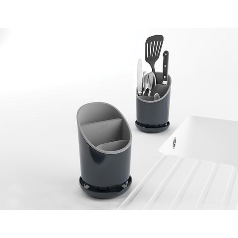 Сушилка для столовых приборов со сливом Joseph Joseph Dock™ серая 85075