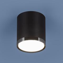 Накладной потолочный светодиодный светильник DLR024 6W 4200K черный матовый Elektrostandard