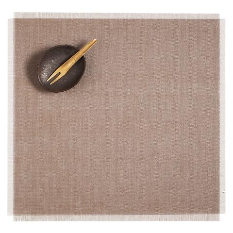 Салфетка подстановочная, винил, (38x39) Sand CHILEWICH Metallic Fringe арт. 100345-002