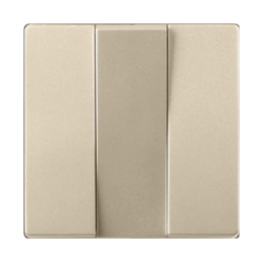 Набор клавиш для выключателя трехклавишного (шампань) WL11-SW-3G-CP Werkel