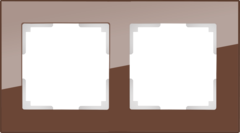 Рамка на 2 поста (мокко) WL01-Frame-02 Werkel