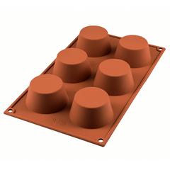 Форма для приготовления маффинов Muffin 18 х 33,5 см силиконовая Silikomart 20.023.00.0065