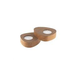 Набор из 2 подсвечников для чайных свечей 8х10х2,5см Nupo brown LindDNA-981767
