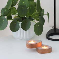 Набор из 2 подсвечников для чайных свечей 8х10х2,5см Nupo light grey LindDNA-981765