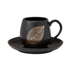 Чашка с блюдцем Lantana Black Stone Ashdene 517200