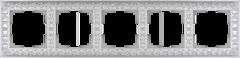 Рамка на 5 постов (жемчужный) WL07-Frame-05 Werkel