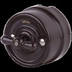 Переключатель одноклавишный (коричневый) Ретро WL18-01-03 Werkel