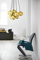 Люстра Ball, 7 плафонов, бронзовая в глянце Frandsen 14232105001